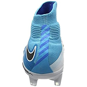 Nike Jr Hypervenom Phantom 3 Dynamic DF FG 882087-104 White/Blue Kids Cleats (4 BIG Kid M)