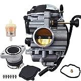 Carburetor Carb with Intake Manifold Boot Fit for Yamaha Wolverine 350 YFM350FX 1996-2005/1999 Yamaha Big Bear 350