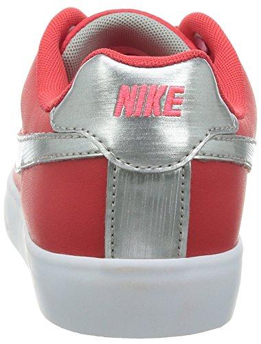 Nike Wmns Domstol Tur Tynne Skinn Kvinner Rund Tå Skinn Røde Joggesko 10