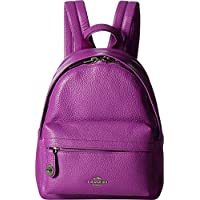COACH Womens Polished Pebble Leather Mini Campus Backpack