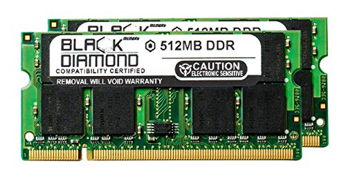 1GB 2X512MB RAM Memory for Averatec AV Series AV6128H1 Black Diamond Memory Module DDR SO-DIMM 200pin PC2700 333MHz Upgrade ()