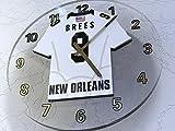 FanPlastic Drew Brees 9 New Orleans Saints Wall Clock - National Football League Legends Edition !!