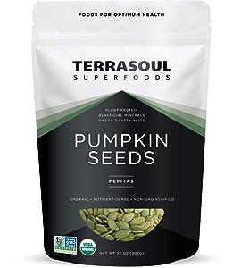 Terrasoul Superfoods Organic Pumpkin Seeds, 2 Lbs - Premium Quality   Fresh   Raw   Unsalted