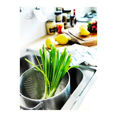 Ikea Colander 9'' Stainless Steel Strainer Pasta Vegetable Cookware Pot Ordning by IKEA (Image #2)