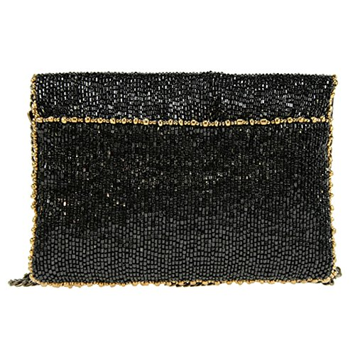 Frances Mary Beaded Hand Crown Royal Clutch Handbag Mini S984 awCxApwq
