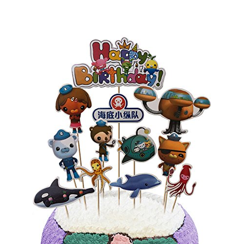 Party Hive 12pc Octonauts Cake Toppers for Birthday