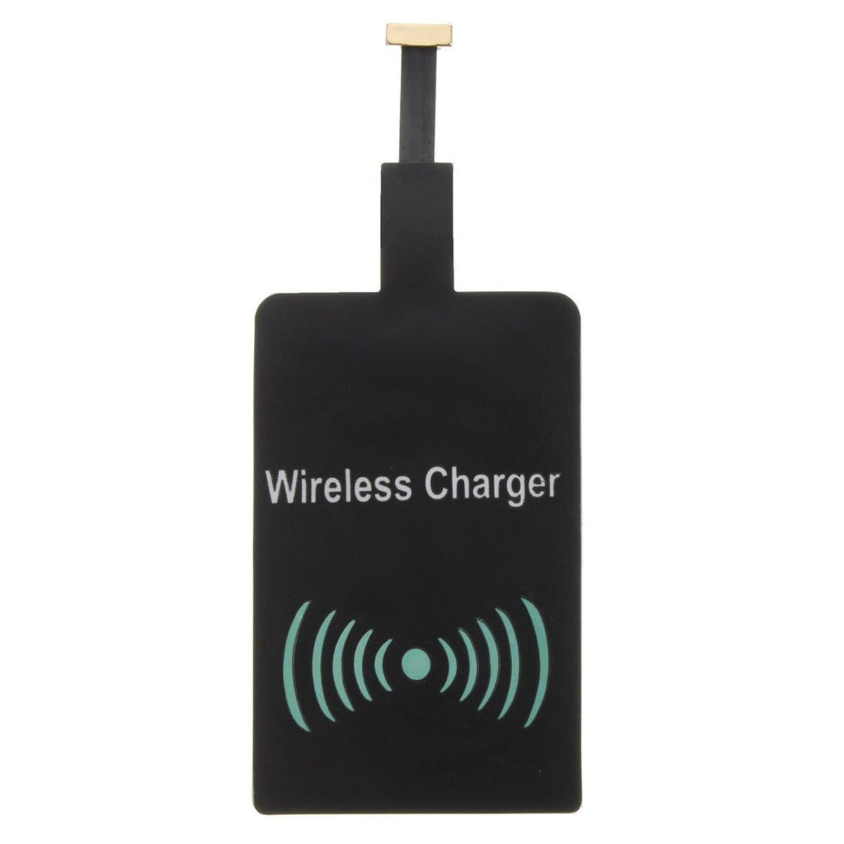 SODIAL Mirco USB Qi Wireless Charger Charging Receiver Chip Android Cellphone Black, Narrow side upwards by SODIAL (Image #3)