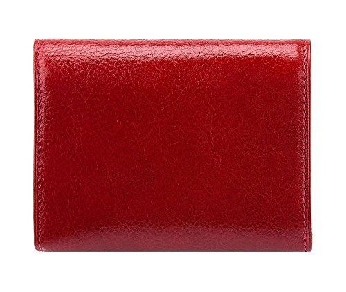 WITTCHEN portafoglio, Rosso, Dimensione: 9.5x12 cm - Materiale: Pelle di grano - 22-1-070-3