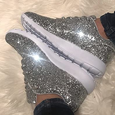 silver glitter sneakers womens coupon