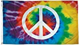 Flagsource – Peace Sign 3×5 Heavy Duty' Nylon Decorative Flag – Proudly Made in USA For Sale