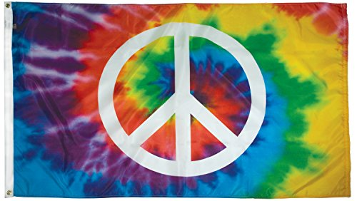 FlagSource - Peace Sign 3x5' Nylon Decorative Flag - Proudly