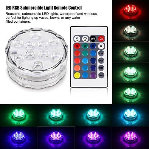 SmartHitech Luz de Jarr/ón LED RGB Luz Sumergible Ajustable L/ámpara Floral Que Cambia de Color a Prueba de Agua con Control Remoto 1 Juego 4 Modos Funciona con Bater/ía