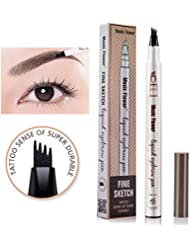 Music Flower liquid eyebrow pencil with four tips brow...