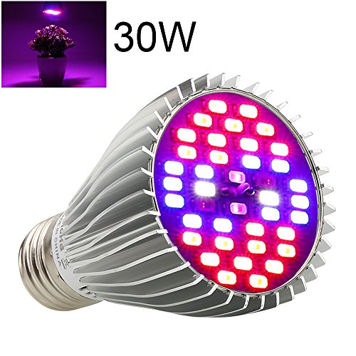 LED Grow Light Bulb Full Spectrum – EnerEco 30W Grow Lamp for Indoor Plants,Plant lights Bulbs for Hydroponics Greenhouse Organic Succulent Flowers Tobacco Vegetable Seedling (E26/E27)