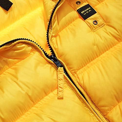 Blauer Herren Daunenjacke Ultralight Pietro Gelb, Gelb Large