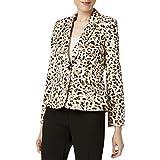 Calvin Klein Womens Petites Leopard Print One-Button Blazer Brown 8P