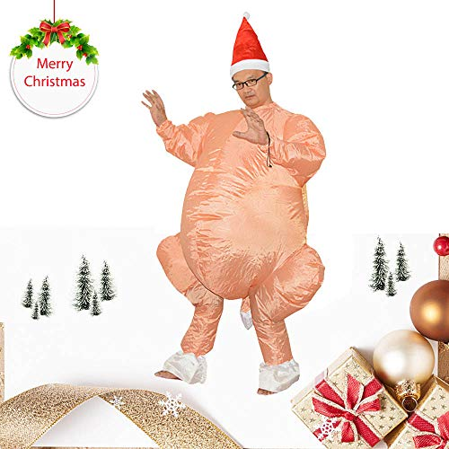 Euone  Inflatable Turkey Suit, Santa Claus Turkey Cosplay Uniforms Inflatable Carnival Funny Party Costumes]()