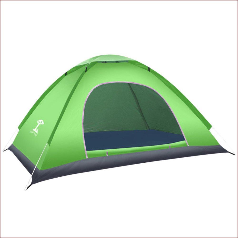 TY&WJ Kuppelzelte,Outdoor Grillmöglichkeiten Und Grill Vollautomatische Campingzelt Set Outdoor Reise Zelte Portable Faltung Notfall Zelt 2 Personen