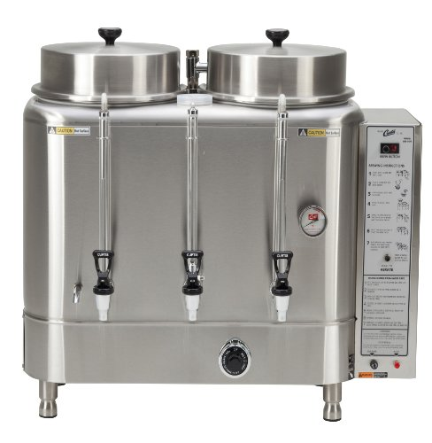Wilbur Curtis Automatic Coffee Urn 10.0 Gallon Twin Coffee Brewer, 1Ph 2W+G Natural Gas 120V 3.0A - Commercial-Grade Automatic Coffee Brewer - RU-1000-35 (Each) by Wilbur Curtis