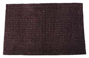 Tildenet–dmj0790x 60x 1,5cm, con bordes alfombra de yute–negro (1)