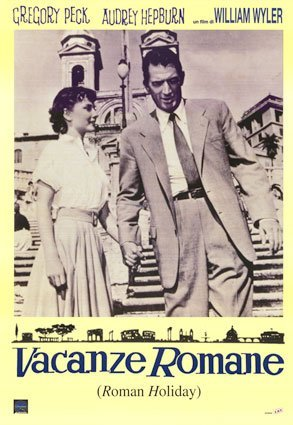 Roman Holiday Vacanze Romane Italian Promo b/w Huge Vintage PAPER Movie Poster Measures 40 x 27 Inches (100 x 70 cm ) approx