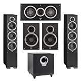 Elac 5.1 System with 2 Debut F6 Floorstanding Speakers, 1 Debut C5 Center Speaker, 2 Debut B6 Bookshelf Speakers, 1 Debut S10 Subwoofer