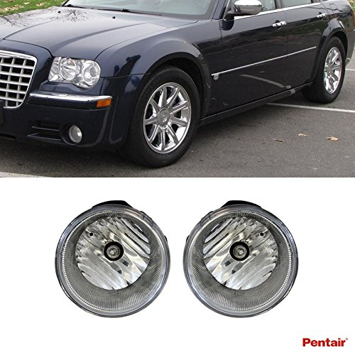 2pcs Aftermarket Clear Lens Fog Lights Kit With Light Bulb For 2005-2010 Chrysler 300 Only AND 2008-2009 Dodge Caliber SRT-4 - 4 Srt Aftermarket