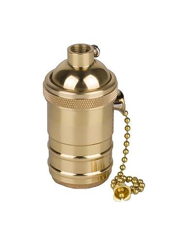 Electrolier Light Lamp Socket with for Retro Holder Chain Socket Set Edison Switch Bulbs Holder E26E27 Pull Brass Light Pendant Splink Fitting Lamp PXZulwOTik
