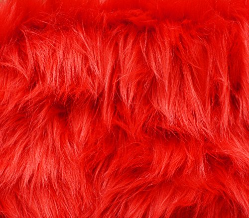 Fire Monkey Costume (Faux Fur Fabric Long Pile Monkey Shaggy FIRE RED / 60