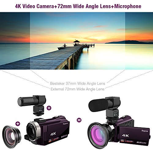 Video Camera Camcorder,4K Rraycom Ultra HD Digital WiFi Camcorder.48.0MP 16X Digital Zoom Recorder,3.0 Touch Screen Night Vision Camera with Microphone and Wide Angle Lens