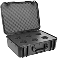 Veydra V1-6Case 6-Lens Hard Case with High Density Foam, Black