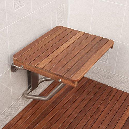 Teak ADA Wall Mounted Folding Shower Bench/Seat (26\