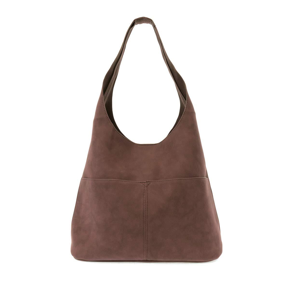 Chocolate Joy Susan Jenny Sueded Hobo Handbag