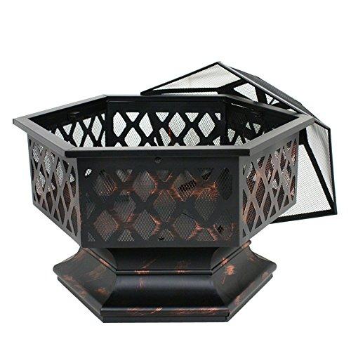F2C-Outdoor-Heavy-Steel-24-Fire-Pit-Wood-Burning-Fireplace-Patio-Backyard-Heater-Steel-Firepit-Bowl
