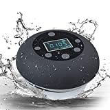 Bluetooth Shower Speaker, Portable 5.0 Bluetooth Speaker Waterproof Outdoor Wireless Speaker Shower Radio with LCD Display, FM Radio, Micro SD Slot, Microphone for Bathroom, Pool, Car, Beach, Kitchen