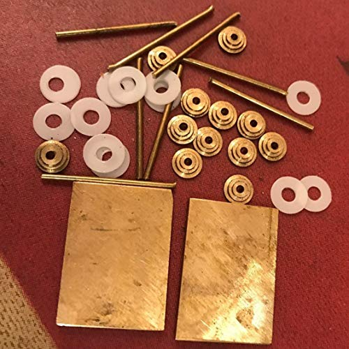 Used, 2 Solid Brass Wedges 12 Brass Collars 8 Pins 12 Washers for sale  Delivered anywhere in USA