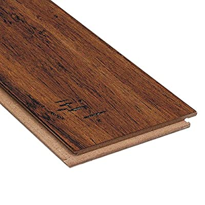 Hand Scraped Strand Woven Spice 3/8in. Thick x 5-1/8in.Wide x 36in. Length Click Lock Bamboo Flooring(25.625sq.ft./case)