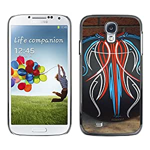 Exotic-Star ( Bowling Decal Abstract Pattern Brick ) Fundas Cover Cubre Hard Case Cover para SAMSUNG Galaxy S4 IV / i9500 / i9515 / i9505G / SGH-i337