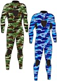 IST 3mm Nylon II Super-Stretch Camouflage Wetsuit (Large, Blue Camo)