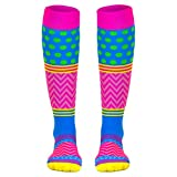 Crazy for Color Compression Socks | Athletic Knee Socks by Gone For a Run | Small