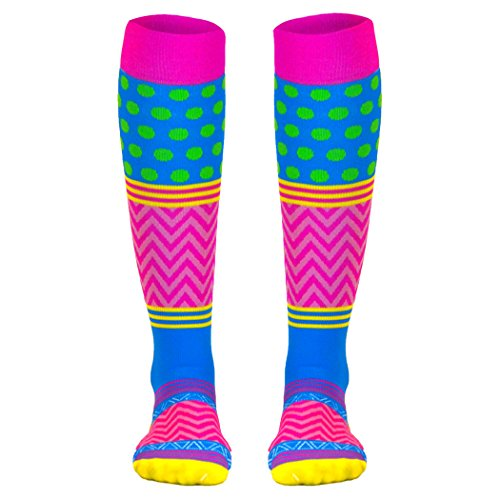 Crazy for Color Compression Socks | Athletic Knee Socks by Gone For a Run |Small