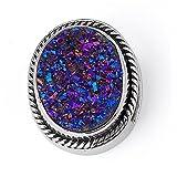 Lori Bonn Sweet Tart Blue Drusy Sterling Silver Bonn Bon Slide Charm