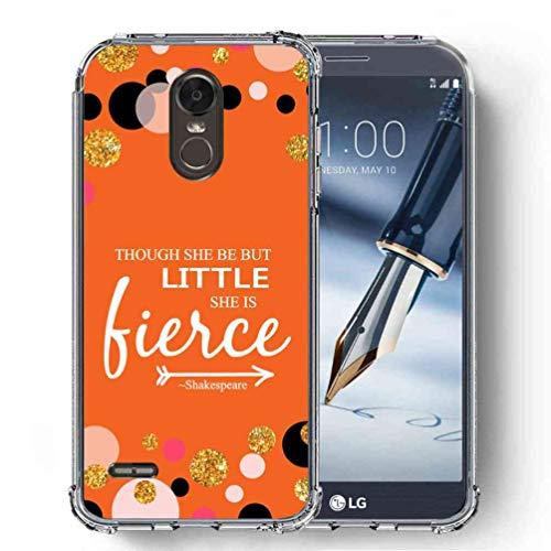 for LG Stylo 3 Case, LG Stylo 3 Plus Case, LG Stylus 3 Case, LG LS777 Case, SuperbBeast Ultra Slim Thin Protective Case w/Reinforced Corners Vector Floral Flowers Polka Dots [Glitter Pattern] ()