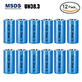 #3: Bingogous CR123A Lithium Battery 3V 1300mAh with PTC Protection Leak Resistant Non-Rechargeable CR123 Batteries for Flashlight Light Meter Toys Torch, NOT Fit For Arlo (12-Pack)