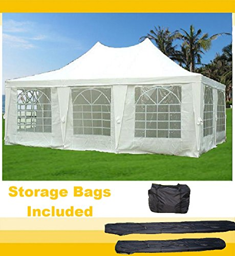 DELTA Canopies - 23'x16.5' Wedding Party Tent Canopy Gazebo Heavy Duty Water Resistant White