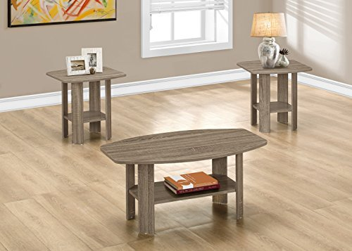 (Monarch 3 Piece Table Set, Dark Taupe)