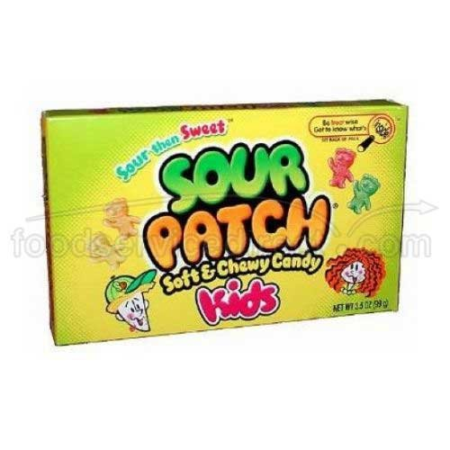 Cadbury Adams Sour Patch Kids Soft and Chewy Candy, 3.5 Ounce -- 60 per case. by ()