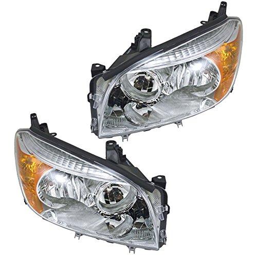 (Headlights Headlamps Left & Right Pair Set for 06-08 Toyota Rav4 Rav-4)