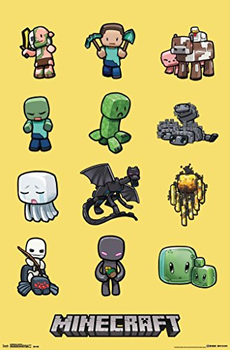 Minecraft Characters Poster Print