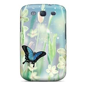 New Tpu Hard Case Premium Galaxy S3 Skin Case Cover(aqua Dreams)